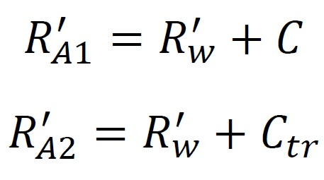 Wskaźniki izolacyjności akustycznej - R'A1 oraz R'A2